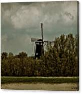 Windmill On The Rhine Canvas Print