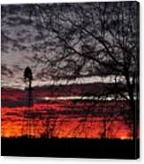 Windmill Sunset Two Canvas Print