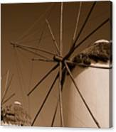 Windmills In Sepia Canvas Print