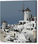 Windmills Of Santorini Canvas Print