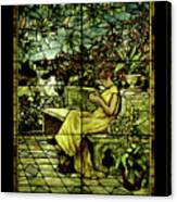 Window - Lady In Garden Canvas Print