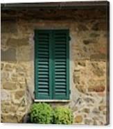 Window #3 - Cinque Terre Italy Canvas Print