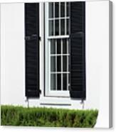 Window And Black Shutters Canvas Print