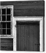 Window And Door Bw Canvas Print