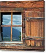 Window And Reflection Canvas Print