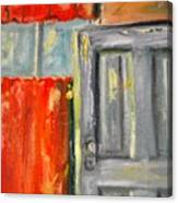 Window And The Pantry Door Canvas Print