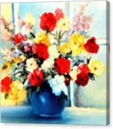 Window Bouquet Canvas Print