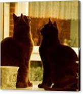 Window Cats Canvas Print