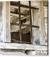 Window In The Amana Farmer's Market Barn Amana Ia Canvas Print