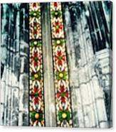Window In The Lisbon Cathedral Canvas Print