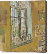 Window In The Studio Saint-remy-de-provence, September - October 1889 Vincent Van Gogh 1853 - 1890 Canvas Print