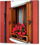 Window On Burano Canvas Print