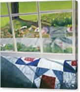 Window On Spring Canvas Print