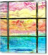 Window Scene Abstract Canvas Print