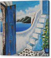 Window To Aegean Canvas Print