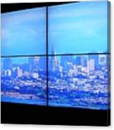 Window View Of San Francisco Canvas Print