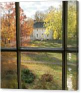 Window View Of Shakertown Canvas Print