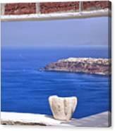 Window View To The Mediterranean Canvas Print
