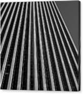 Window Washers View - Black And White Canvas Print