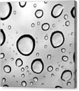 Window Waterdrops B Canvas Print