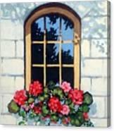 Window With Flower Box Canvas Print