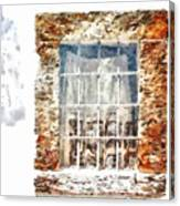 Window With Shadow On The Wall Canvas Print