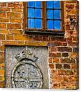 Window With Shield Canvas Print