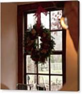 Window Wreath Canvas Print