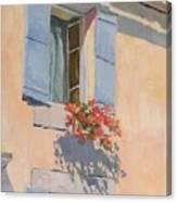 Windowbox Flowers Canvas Print