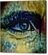 Windows Into The Soul Eye Painting Closeup All Seeing Eye In Blue Pink Red Magenta Yellow Eye Of Go Canvas Print