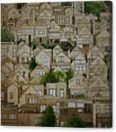 Windows Of Bernal Heights Canvas Print