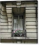 Windows Of Paris Canvas Print