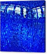 Windows Reflected On A Blue Bowl Canvas Print