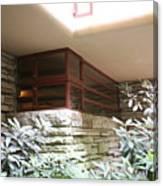 Windows Stones Fallingwater  Canvas Print