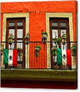 Windows With Flags Canvas Print