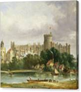 Windsor Castle - From The Thames Canvas Print