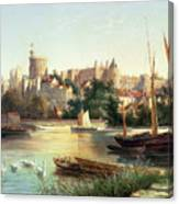 Windsor From The Thames   Canvas Print