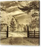 Windstone Farm - Sepia Canvas Print