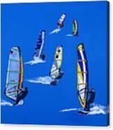 Windsurfers Canvas Print