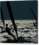 Windsurfing At Cape Hatteras National Canvas Print
