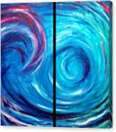 Windswept Blue Wave And Whirlpool 2 Canvas Print