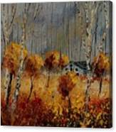 Windy Autumn Landscape  Canvas Print