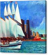 Windy In Chicago Canvas Print