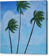 Windy Palms Canvas Print