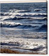 Windy Spring Lake Huron Canvas Print