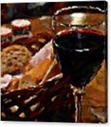 Wine And Bread Canvas Print