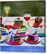 Wine And Cake Canvas Print