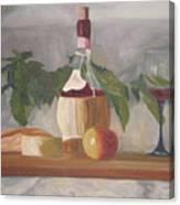 Italian Wine And Cheese Canvas Print