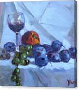 Wine And Fresh Fruits Canvas Print