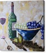 Wine And Grapes Canvas Print
